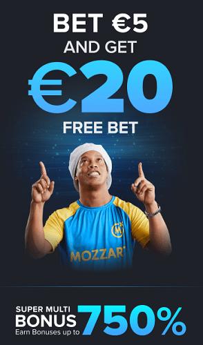 20 EUR free bet bonus