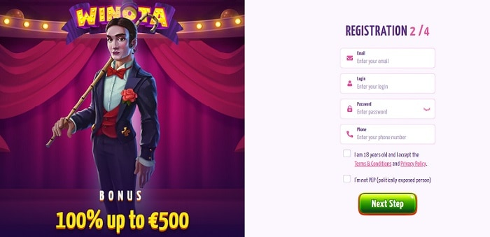 Sign Up Bonus