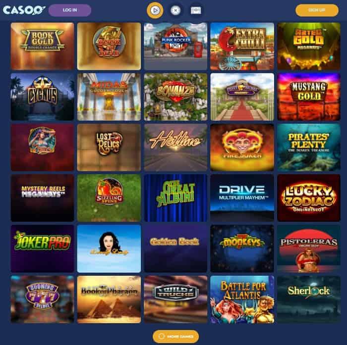 Casoo Casino Website