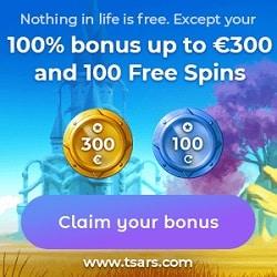 Tsars Casino banner new 250x250