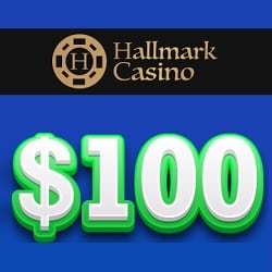 Hallmark Casino 100 USD free chip banner