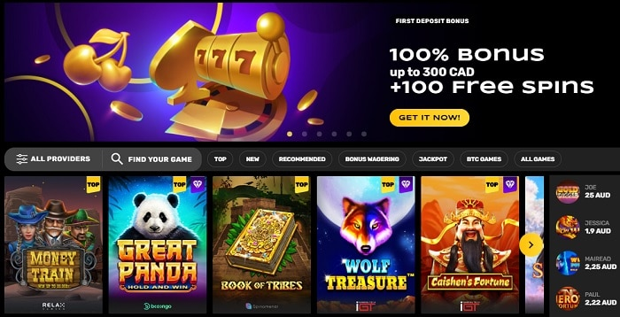100 free spins and 100% welcome bonus